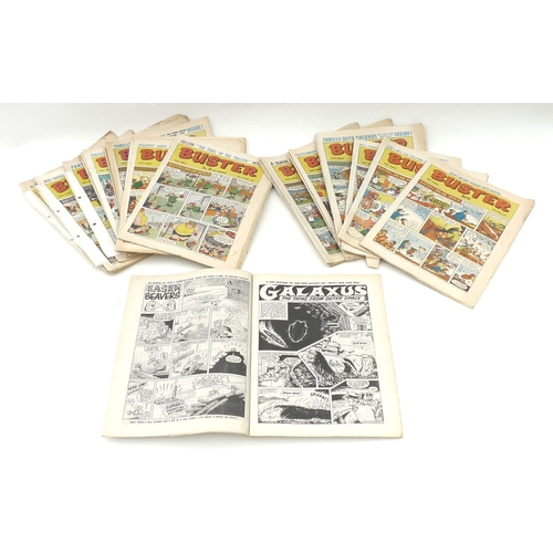 63 - A collection of vintage Buster comics, 27 issues from 1970-71. (1 box)...