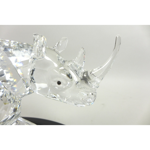 31 - A Swarovski Numbered Limited Edition figure of The Rhinoceros, numbered 07328/10000, this impressive...
