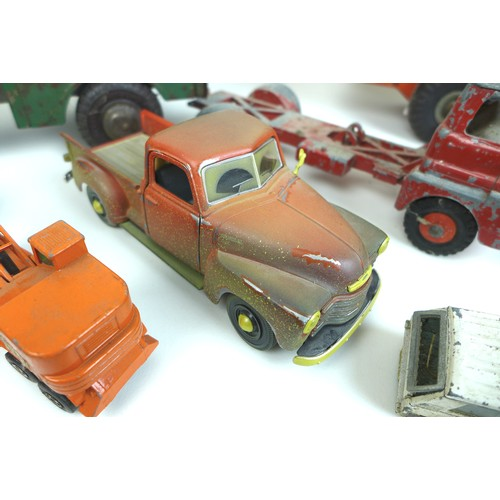 41 - A collection of die-cast metal cars and tin plate toys, including a 1960s tinplate Europa Cup Footba...