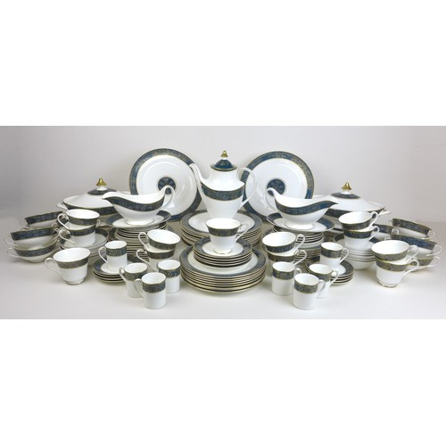 14 - A part Royal Doulton Carlyle pattern tea and dinner service, including a tea pot, twelve tea cups th...