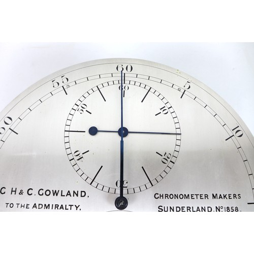 290 - A rare 19th century mahogany cased regulator clock, by G. H. & C. Gowland, Chronometer Makers To The...