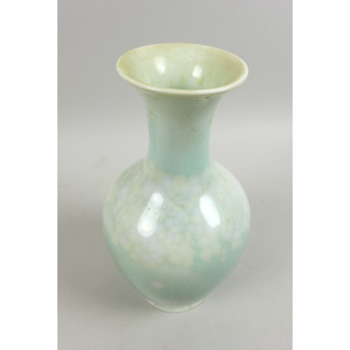 29 - Soren (Søren) Berg for Royal Copenhagen, an Art Deco crystalline glaze baluster vase, with tonal pal...