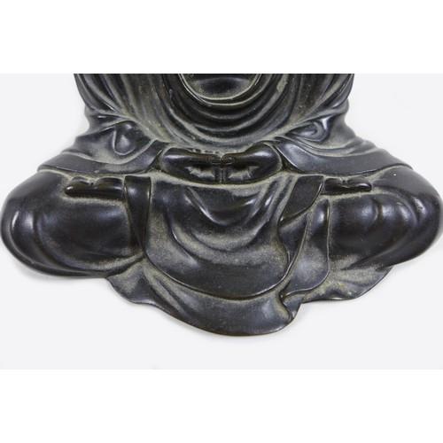 3 - A Japanese bronze sculpture, Meiji period, modelled as Amida Buddha, after The Great Daibutsu Buddha...