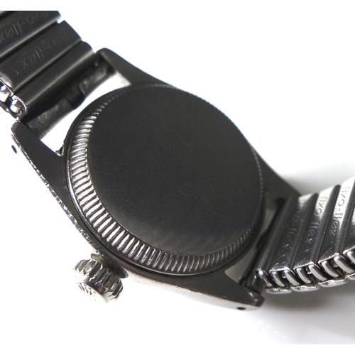 114 - A Tudor Oyster Princess automatic steel cased lady's wristwatch, circa 1960's, ref 7806, circular ch...