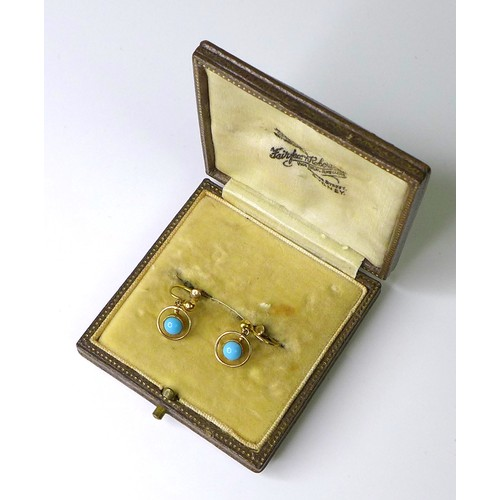 153 - Eight pairs of 9ct gold earrings, all clip on or screw back styles, including a pair of spherical tu...