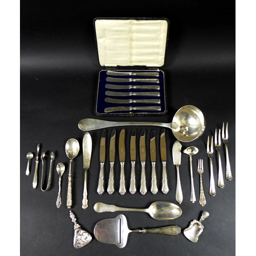 13 - A large collection of various Danish silver plated flatware, one hundred and five pieces, including ...