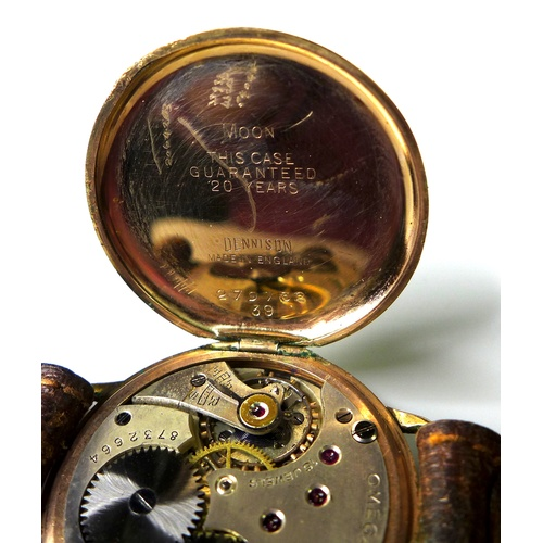 107 - A vintage Omega gentleman's gold plated wristwatch, circa 1935, retailed by W. Jones & Son, Colwyn B...