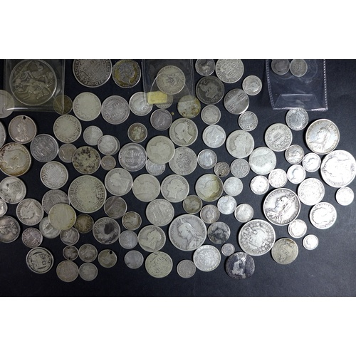 94 - A collection of GB silver coins, including 1579 Elizabeth I sixpence, 1820 George III shilling, 1836...