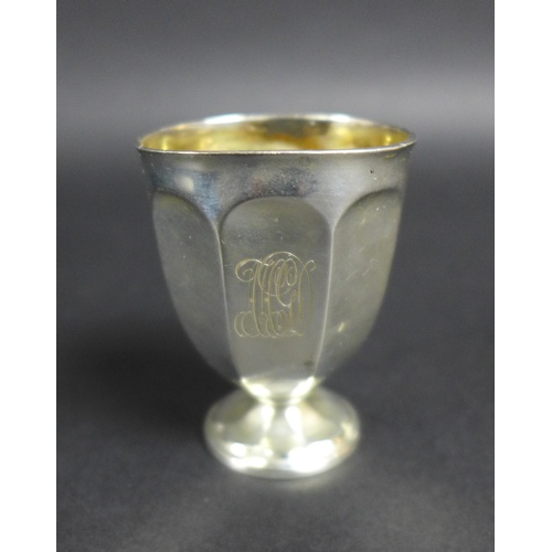 41 - A collection of Victorian and later silver, comprising an Edwardian cased Christening set, with engr...