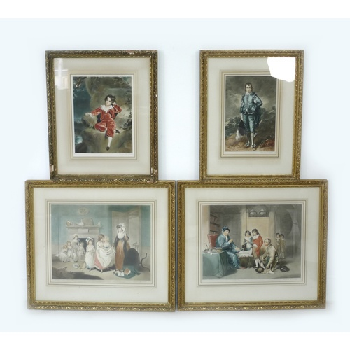 187 - After Sydney E. Wilson, all signed, two mezzotints of paintings by Sir Thomas Lawrence, 'The Romps',...