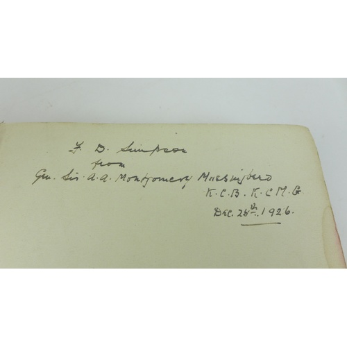 109 - A signed copy of 'The Story of the Fourth Army in the Battles of the Hundred Days August 8th to Nove...