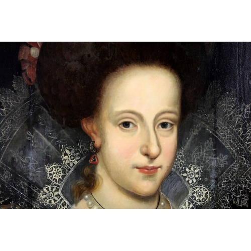 226 - Attributed to Frans Pourbus The Younger (Flemish, 1569–1622): Portrait of a Noble Woman, possibly Ma...