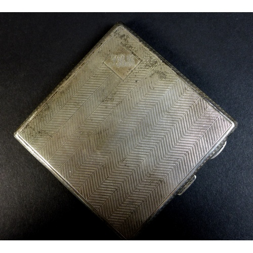 26 - A group of silver and plated items including a silver trinket box, cigarette case, napkin ring and t...