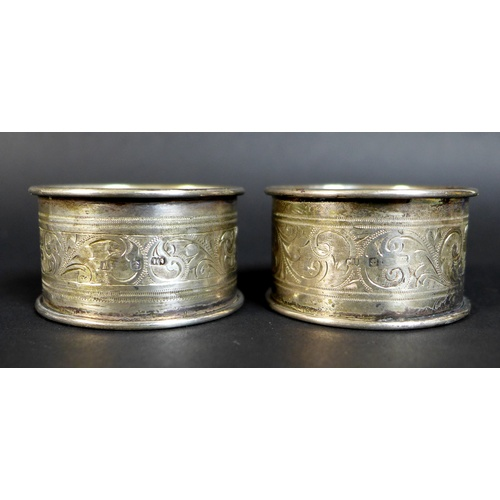 16 - A small group of George III and later silver items, comprising a pair of George III silver teaspoons...