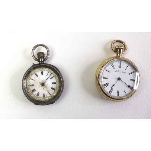 23 - A group of pocket watches, silver items and collectables, including an Edwardian silver framed trave...
