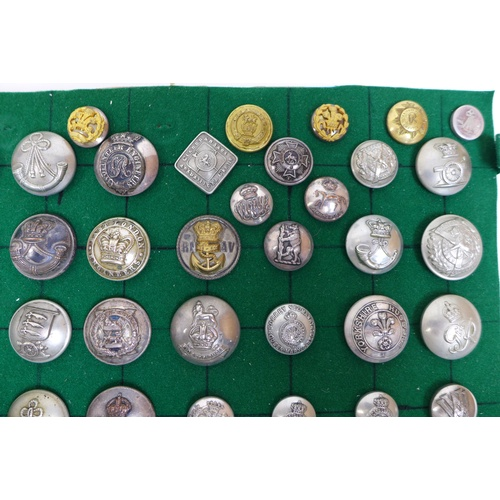 99 - Over one hundred and fifty British and Commonwealth military buttons, including a 19th century 8th B...