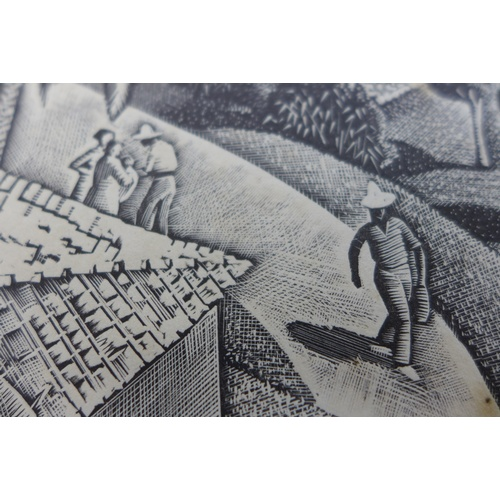 201 - After Iain Macnab (British, 1890-1967): 'Southern Landscape', limited edition woodcut print, 53/75, ...