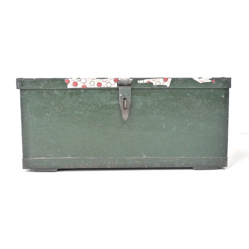 93 - Two British Army style metal ammunition crates, one stencilled in yellow paint 'Grenade Hand Signal ...