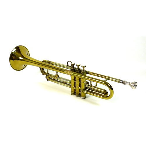 87 - A Maynard Ferguson Liberator brass trumpet, by Ferguson Bell Ltd, serial LB465/001, with Vincent Bac...