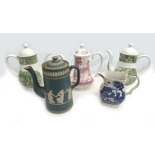 50 - A large collection of mixed ceramics, including blue and white tureens, Royal commemorative cups and...