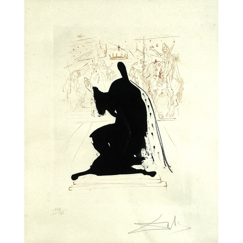 147 - Salvador Dali (Spanish, 1904-1989): 'King of Aragon', etching with mezzotint printed in colours, 197...