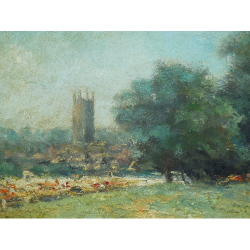 169 - British School (20th century): a summer regatta, possibly St Neots, unsigned, oil on canvas, 39 by 4...
