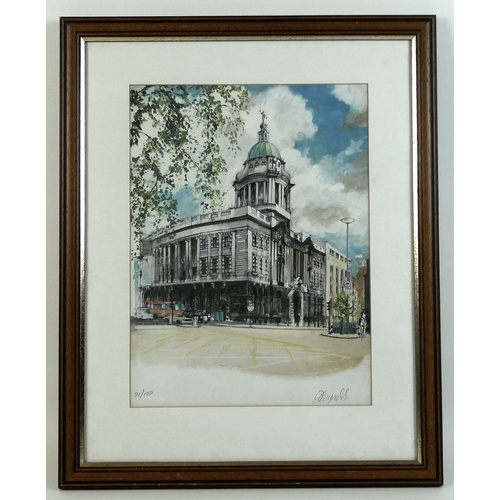 146 - After Derek Reynolds: The Old Bailey, limited edition print, signed in pencil and blind stamped lowe...