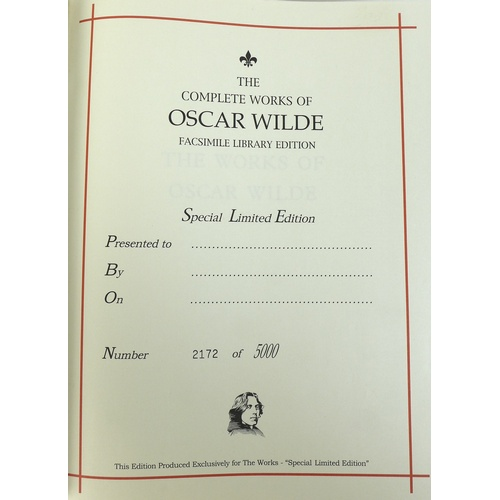 143 - The Complete Works of Oscar Wilde, Facsimile Library Edition, a limited edition presentation volume,...
