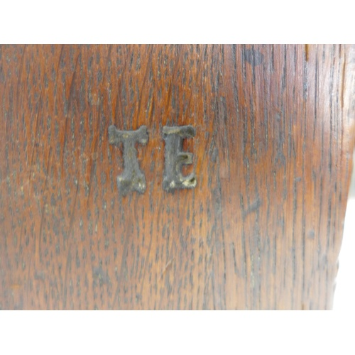 233 - A large 18th century oak chest, two plank lift top, three panel front, stile feet, 155 by 63 by 67.5...