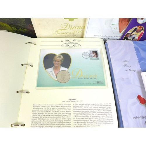 134 - A collection of British Royal family commemorative First Day Covers, including a 1996 solid silver 1...