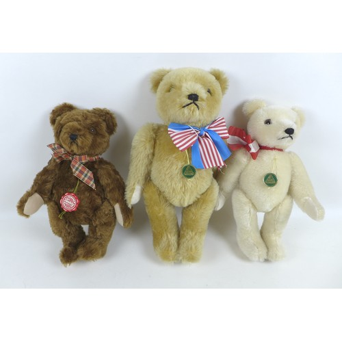 113 - Three Hermann teddy bears, comprising two limited edition bears, a '20.6.1991 Berlin bear', numbered...