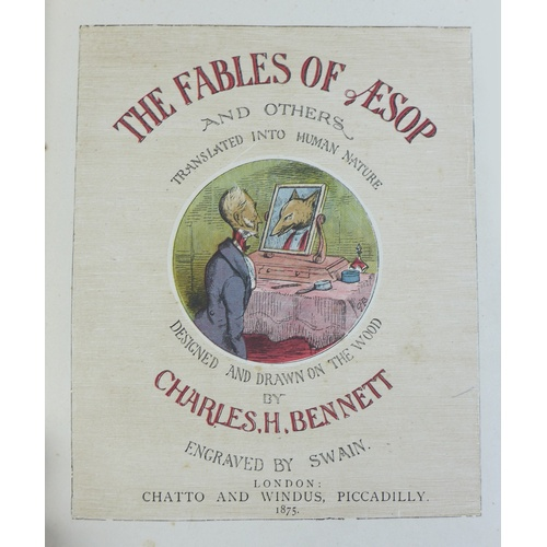138 - A group of Victorian books and albums, including 'Aesop's Fabels Rendered into Human Nature' by Char...