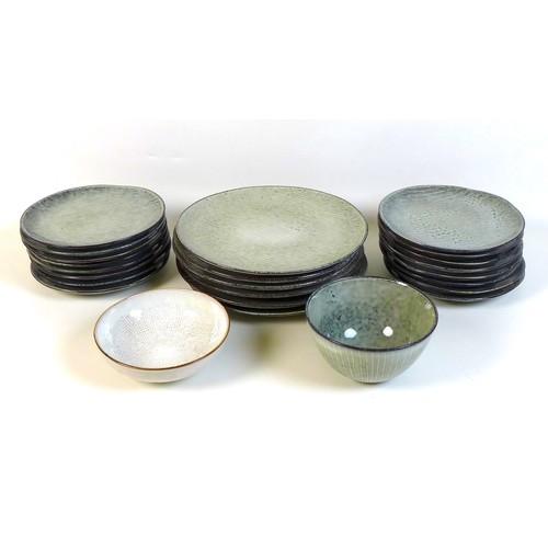 40 - A Broste Copenhagen Nordic Deep Sea pattern part service, comprising sixteen tea plates, 20.2cm diam...