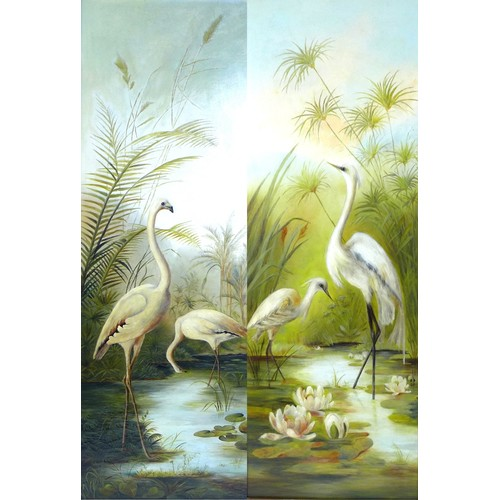 162 - After Henry Jones (1838-1921 British School): two oils on canvas studies of ornithological interest;...
