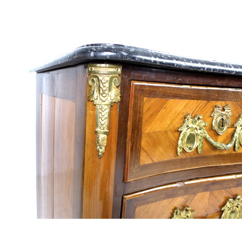 250 - A French Louis XV serpentine fronted commode, circa 1760, by André Antoine Lardin (French, 1724-1790...