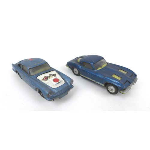 124 - A group of seven Corgi and Wrenn retro racing cars, comprising a Cooper Maserati F1 (156) racing car...