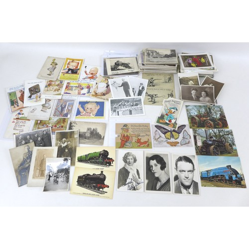 137 - A collection of over 300 early 20th century and later postcards and railway ephemera, including Mabe...