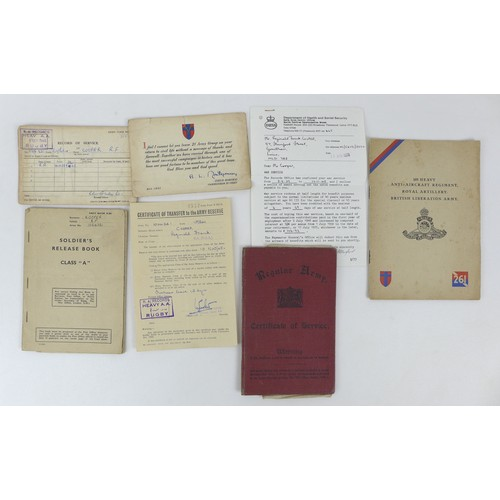 96 - A collection WWII and later of medals and ephemera, comprising of a quartet WWII medals, Defence, 19...