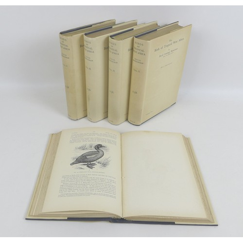 142 - Five volumes of 'Birds of Tropical West Africa' by David Bannerman, vols. 1-5, pub. 1931-1939 Oliver...