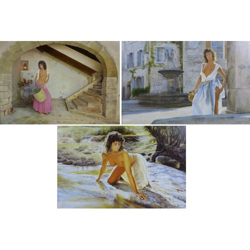 164 - S. Reeves (British, 20th century): three female nudes, 'Reflections', 'Lady of Provence', and 'Laven...