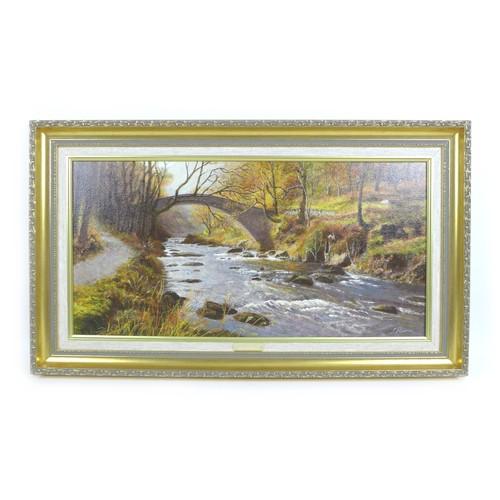 163 - S. Reeves (British, 20th century): three landscape views, 'Watersmeet, Exmoor, West Lyn River', 'Tri...