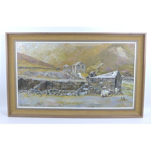 166 - Pat (Patrick) Cleary (British, 20th century): 'Coppermines Valley', 1980, signed lower left, titled ...