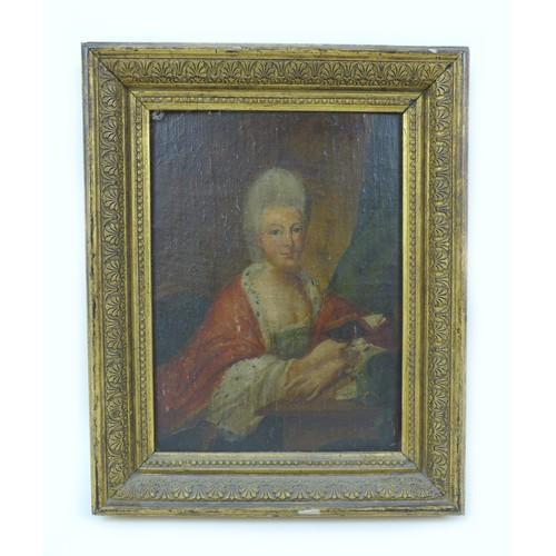 170 - Continental School (early 19th century): half length portrait of Wilemmena Princess of Hesse-Kassel,...