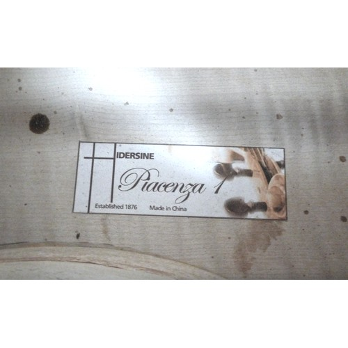 84 - A modern 4/4 Hidersine Piacenza 1 cello, paper label to interior, a/f damaged, back 76cm long, with ...