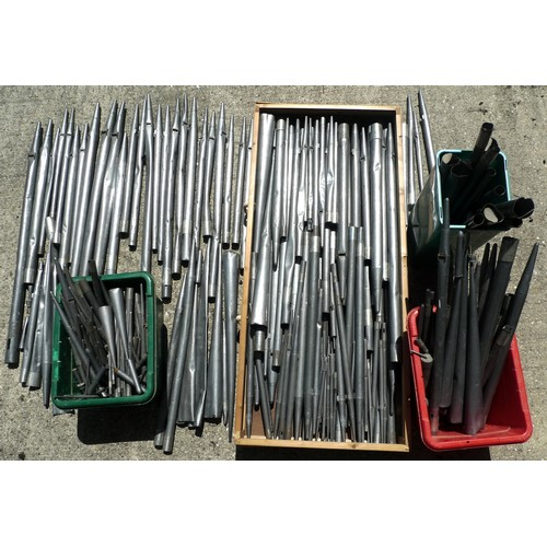 245 - A quantity of vintage organ pipes, rolled lead, originally from Barton Seagrave church. (5 boxes)...