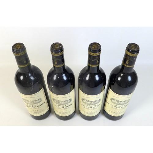 89 - Vintage Wine: four bottles of Chateau Lafon-Rochet, 1996, Saint-Estephe, Grand Cru Classe, 75cl, 13%...
