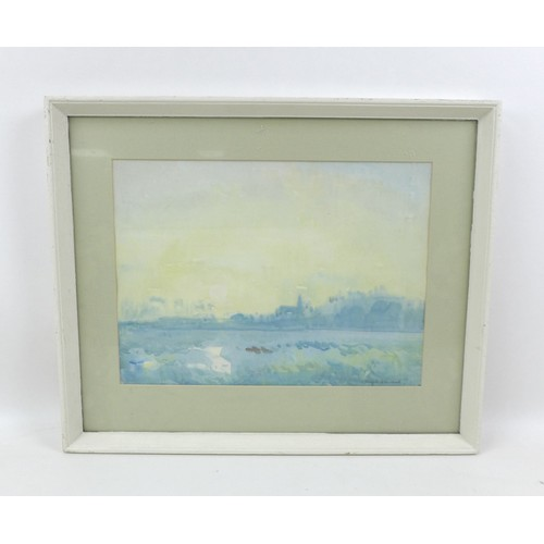 150 - Knighton Hammond (British, 1875-1970): an impressionistic landscape, signed, watercolour, 27 by 37cm...