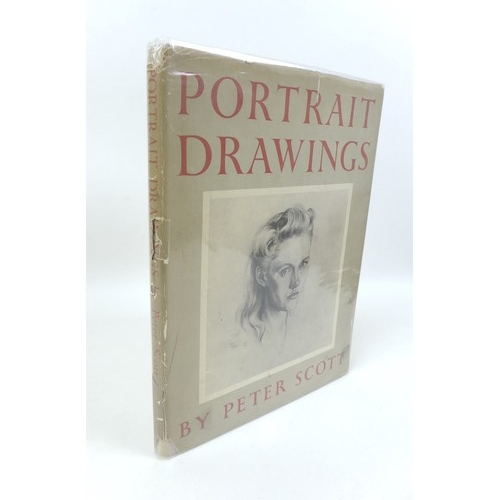 141 - A signed copy of 'Portrait Drawings' by Peter Scott, first edition 1949, with dust jacket, together ...