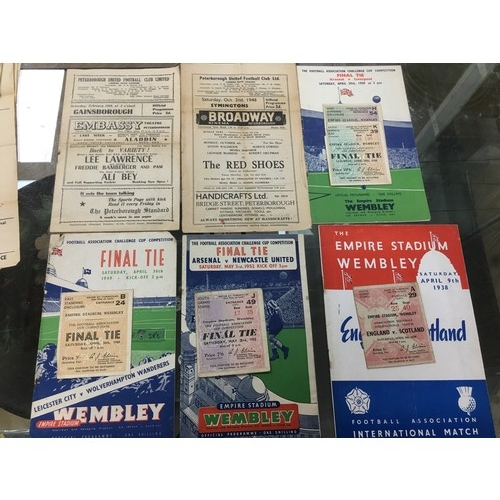 135 - A group of early to late 20th century football ephemera, including England V Scotland programmes wit...
