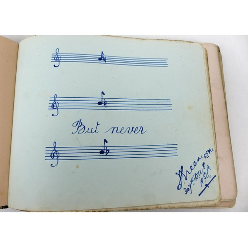 71 - A WWI British Nursing commonplace book with over seventy entries, cartoons and poems from invalided ...